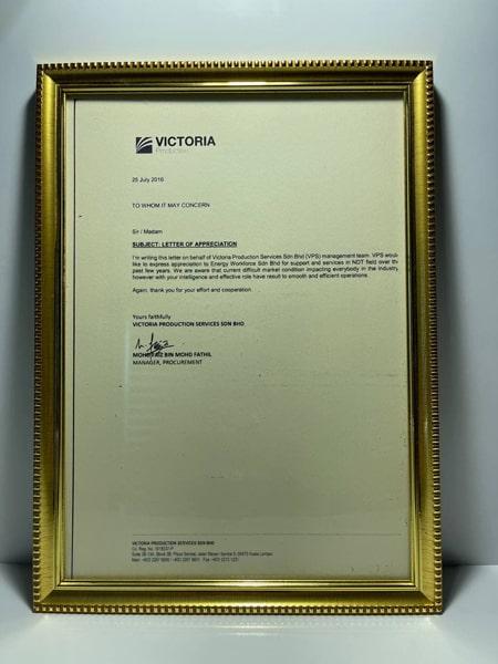 victoria-certification-of-appreciation